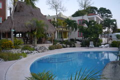 Bacalar Holidays Mexico beach hotel summer Stock Photography