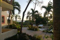 Bacalar Holidays Mexico beach hotel summer Stock Photos