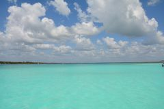 Bacalarlagune in Quintana Roo Mexico royalty-vrije stock fotografie