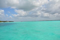 Bacalarlagune in Quintana Roo Mexico royalty-vrije stock afbeelding