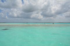 Bacalarlagune in Quintana Roo Mexico royalty-vrije stock afbeeldingen