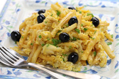 Bacalhau a bras, portuguese cuisine Royalty Free Stock Photo