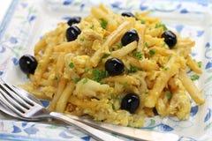 Bacalhau a bras, portuguese cuisine Royalty Free Stock Photo