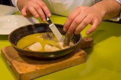 Bacalhau com molho da erva-doce fotos de stock royalty free
