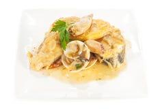 Bacalhau com calamar Imagem de Stock Royalty Free