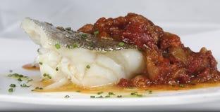 Bacalhau com pimentas Fotos de Stock