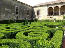 Bacalhoa-Palastgärten Portugal stockbilder