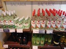 Bacardi alkoholprodukter Royaltyfri Bild