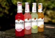 The Bacardi Breezer cooler drink Royalty Free Stock Photography