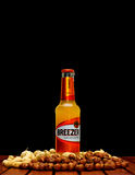 Bacardi breezer orange bottle Stock Image