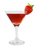 Bacardi cocktail in a glass with strawberries Stock Photo