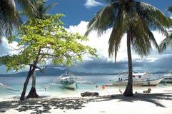 Bacardi Feeling. Beach View at Pandan Island Palawan Philippines stock photo
