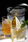 Bacardi with lemon Royalty Free Stock Images