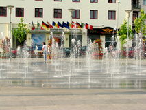 Bacau city center. The city center of Bacau, Romania royalty free stock photo