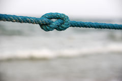 BacBackground to the rope by the sea Royalty Free Stock Photos