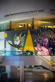 Bacc曼谷艺术&文化中心在曼谷泰国夜场面2017年8月11日 库存照片