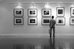 BACC Art Gallery in Black and white Stock Image