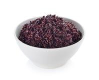 Bacca del riso in ciotola Fotografia Stock