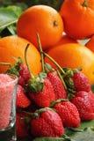 Bacca della frutta della fragola - arancia Fotografie Stock Libere da Diritti