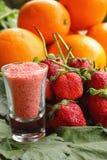 Bacca della frutta della fragola - arancia Fotografia Stock Libera da Diritti
