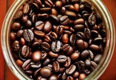 Bacca di caffè in bottiglia fotografia stock