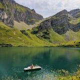 Bacca Lioson, barca, Svizzera Fotografia Stock