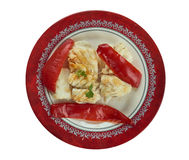 Baccala alla lucana. Traditional dish from Basilicata.typical Christmas dish, it is made of cod and crunchy red peppers Royalty Free Stock Photos