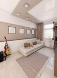 Baccalaurean loft, wewnętrzny projekt, odpłaca się 3D Zdjęcia Royalty Free