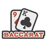 Baccaratillustrationsymbol Arkivfoton