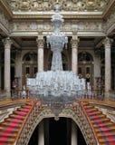 Baccaratleuchter im Dolmabahce Palast, die Türkei Lizenzfreies Stockfoto
