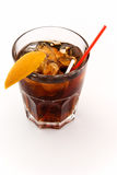Baccardie cola. Cocktail with cola lemon on white Royalty Free Stock Image