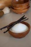 Baccelli di vaniglia e dello zucchero Fotografia Stock