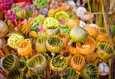 Baccelli secchi del papavero Fotografie Stock