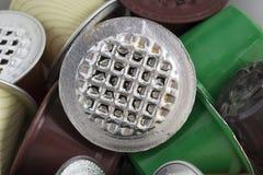 Baccelli utilizzati differenti di caffè Fotografia Stock