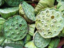 Baccello del seme di Lotus del mercato Immagine Stock Libera da Diritti