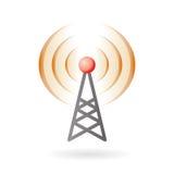 Baccello-lanci ed icona di radiodiffusione Fotografia Stock Libera da Diritti