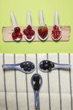 Bacche dell'antiossidante di Bodegon fotografie stock libere da diritti