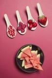 Bacche dell'antiossidante di Bodegon fotografia stock libera da diritti