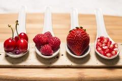 Bacche dell'antiossidante di Bodegon immagine stock libera da diritti