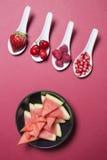 Bacche dell'antiossidante di Bodegon immagine stock