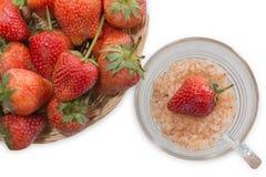 Bacche della frutta della fragola Fotografia Stock