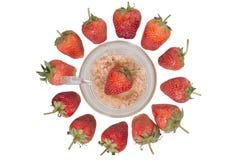 Bacche della frutta della fragola Fotografie Stock Libere da Diritti
