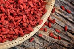 Bacche di goji secche rosso Fotografia Stock Libera da Diritti