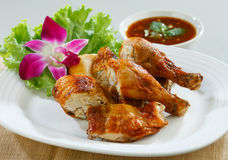 Bacchetta di pollo cotta Fotografia Stock