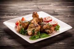 Bacchette di pollo arrostite Immagine Stock Libera da Diritti