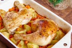 Bacchette di pollo arrosto Immagini Stock