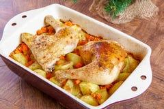 Bacchette di pollo arrosto Fotografie Stock Libere da Diritti