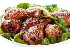Bacchette di pollo del sesamo Fotografia Stock