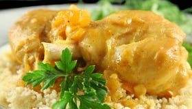 Bacchette di pollo dell'albicocca 2 Fotografie Stock