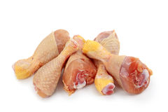 Bacchette di pollo grezze Immagini Stock